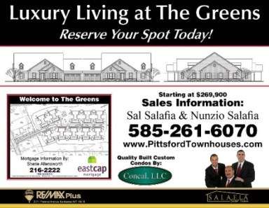New Build Development The Greens In Pittsford Ny The
